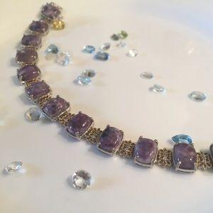 Jewelry - Genuine Sierra Madre Purple Opal 14k & Sterling